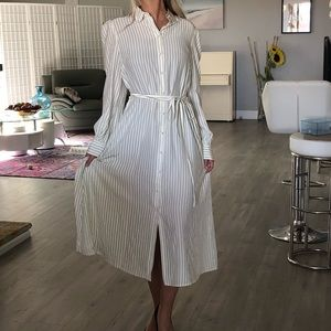 NWT CO Los Angeles silk long shirts dress